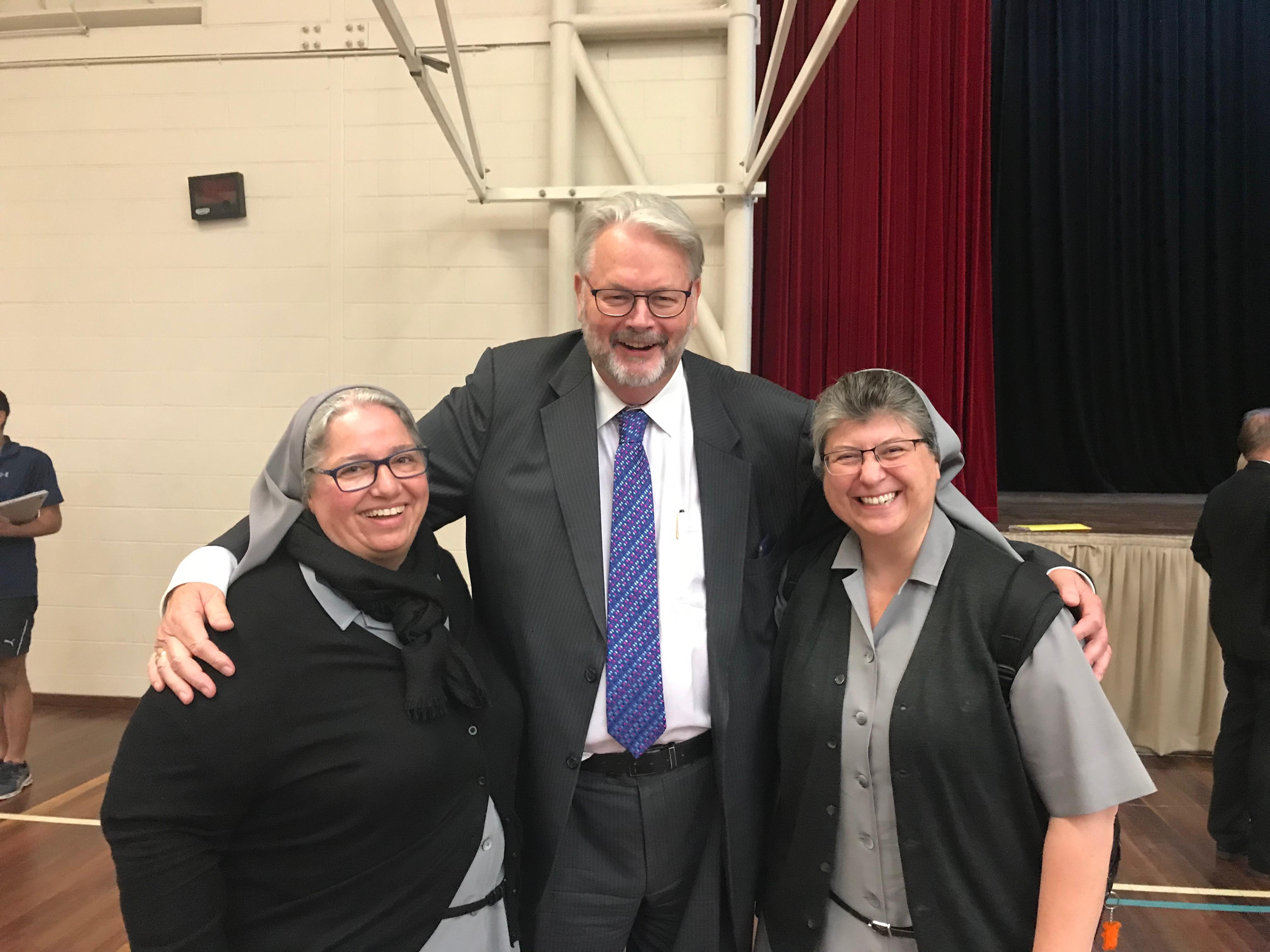 Con Greg Whitby, Director Ejecutivo de Escuelas Católicas Parramatta