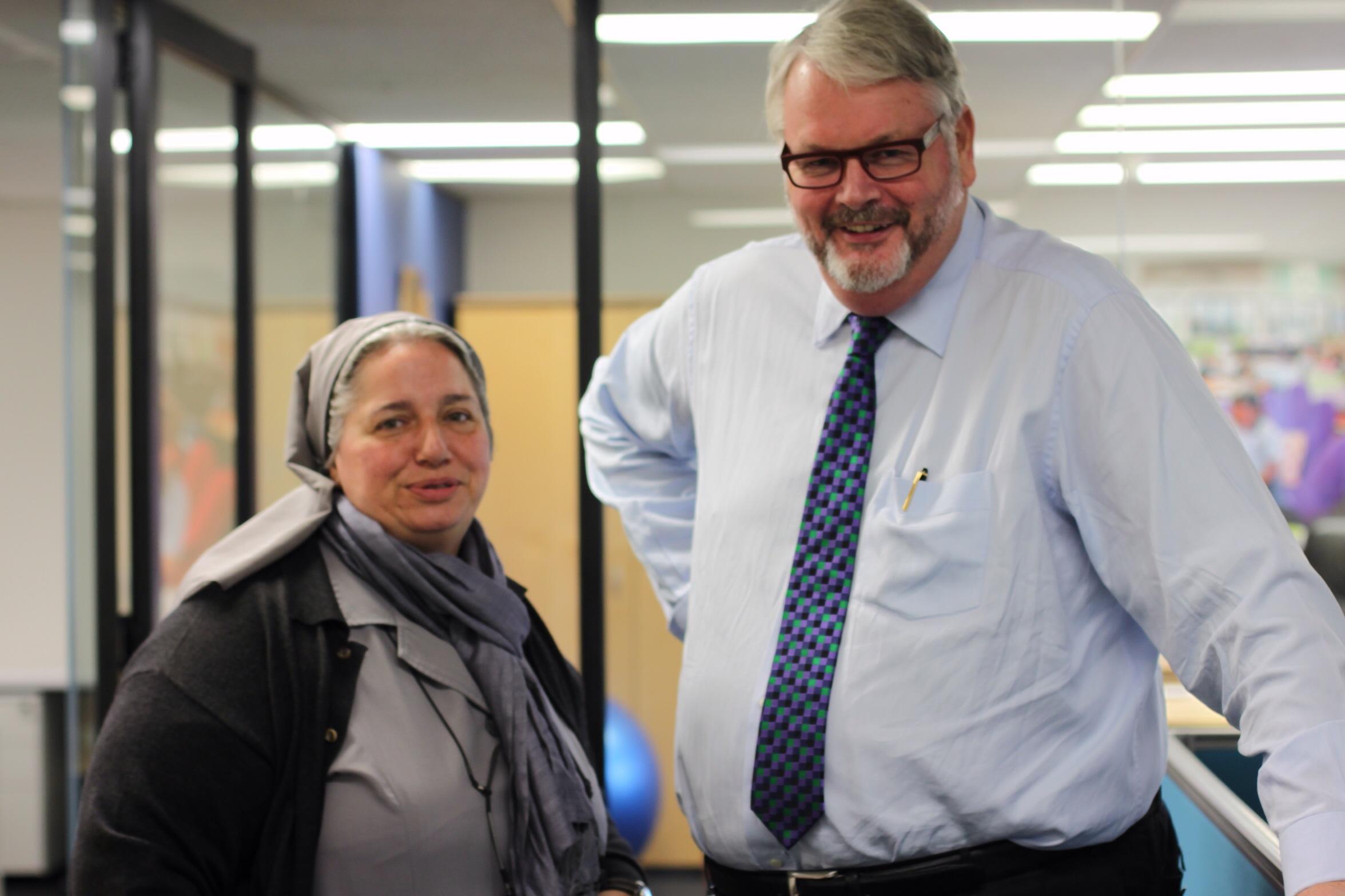 Con Greg Whitby, Director Ejecutivo Escuelas Católicas Parramatta
